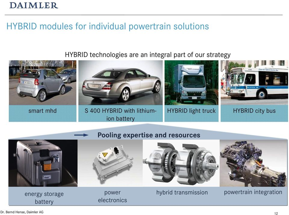 battery HYBRID light truck HYBRID city bus Pooling expertise and resources