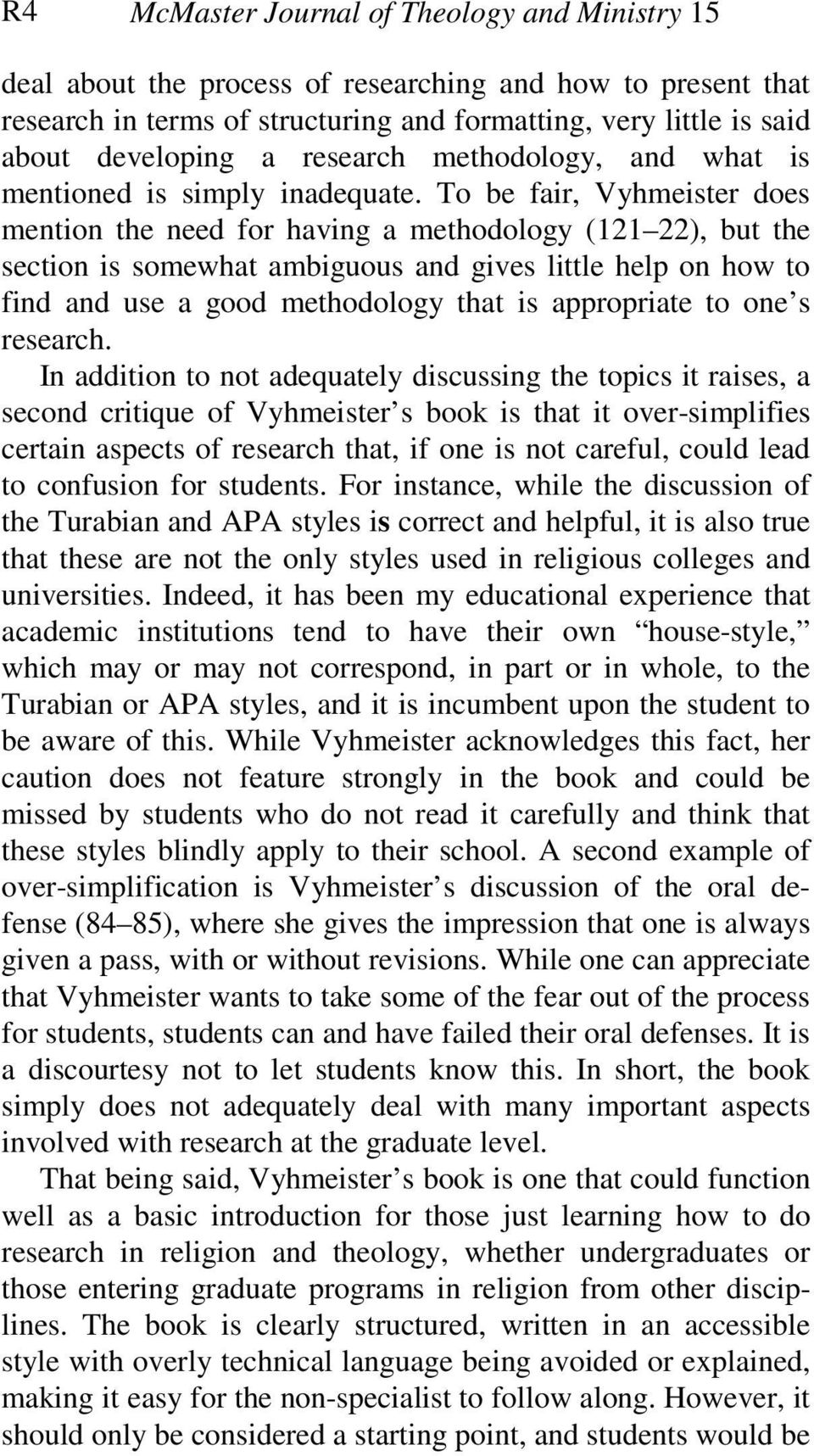 nancy vyhmeister quality research papers pdf