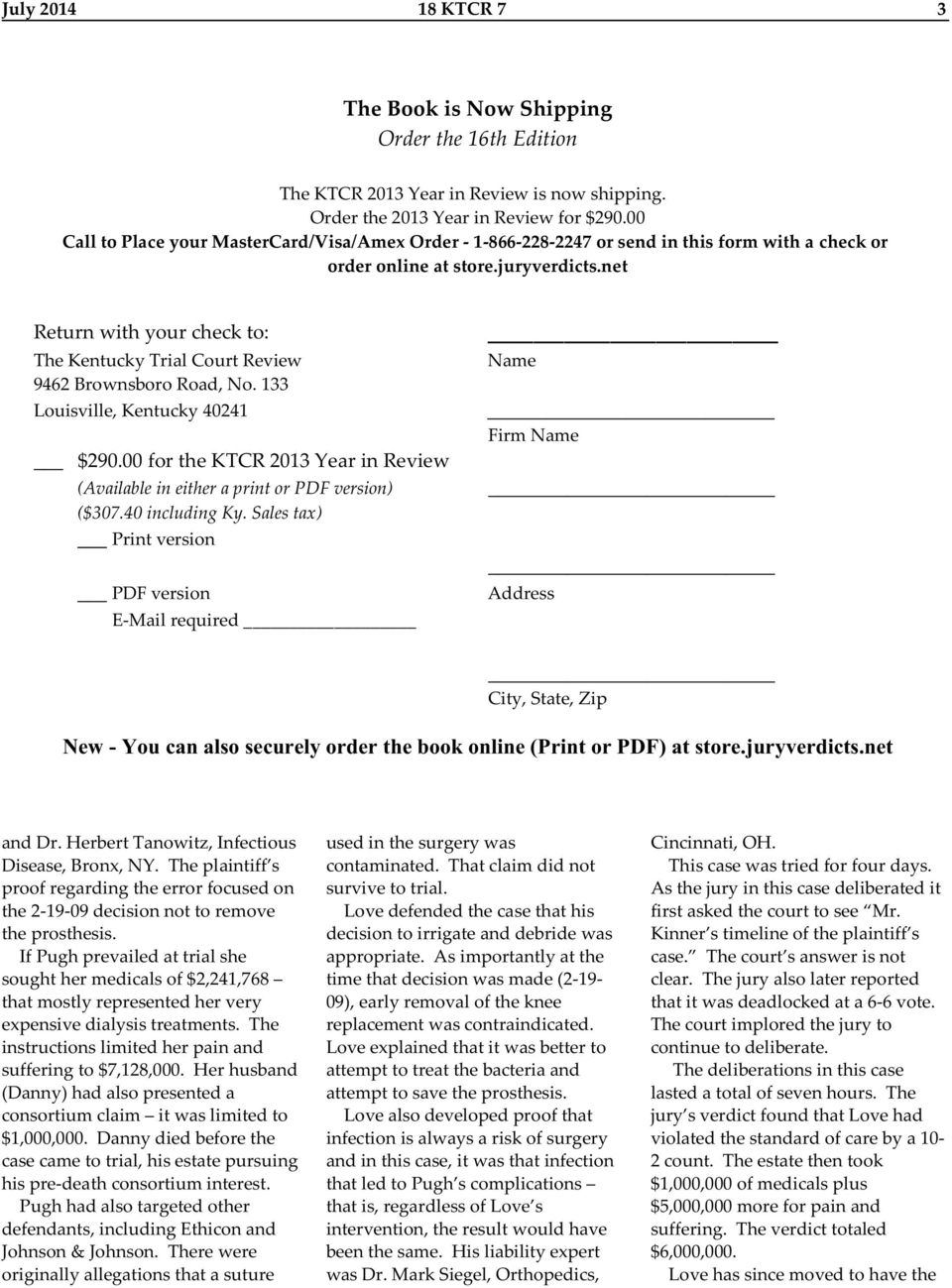 Kentucky Trial Court Review - PDF