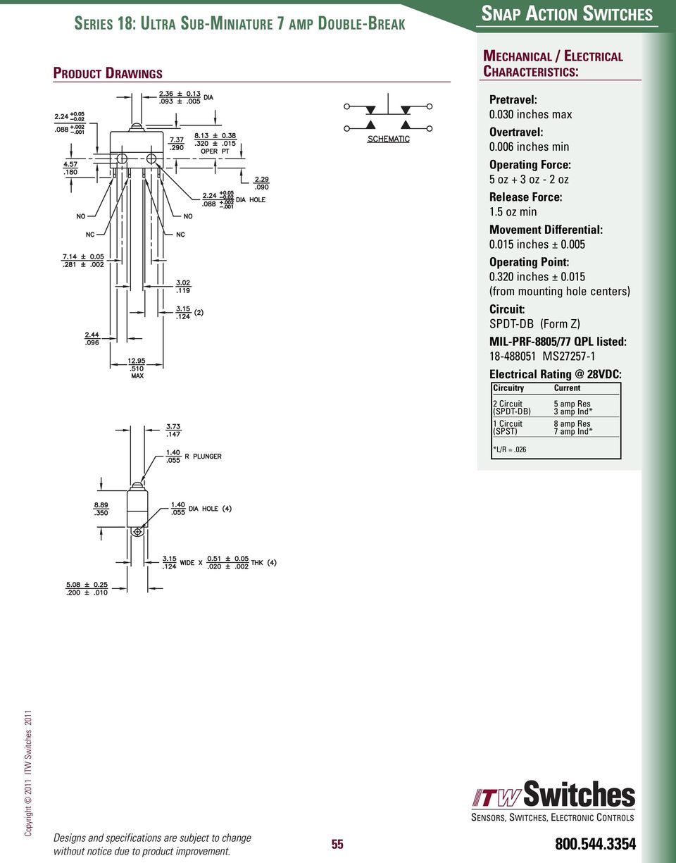 Licon Snap Action Switches Pdf How To Make A Parallel Battery Charger Changeover Circuit Using Spdt 320 Inches 0
