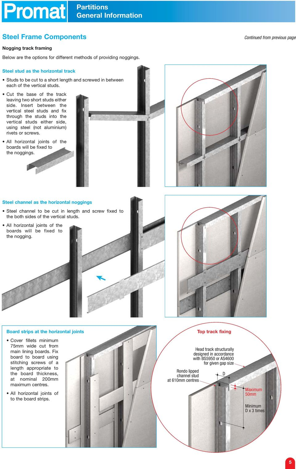 PROMATECT -H Single Layer Steel Stud Partitions - PDF