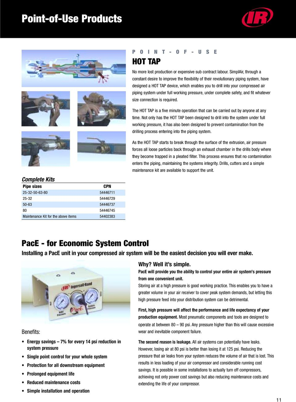 Ingersoll-Rand Air Solutions Installation Accessories - PDF