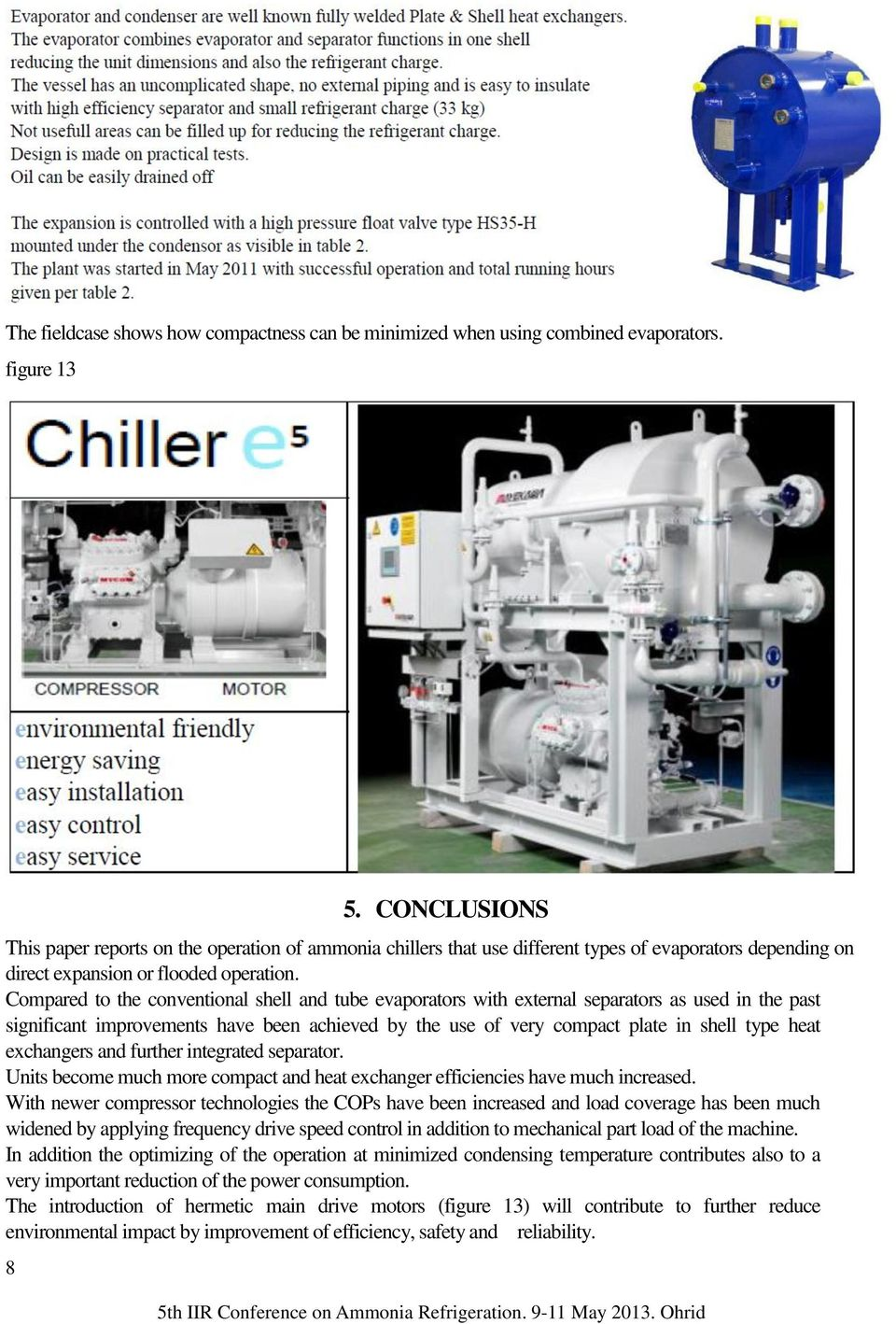 AMMONIA CHILLERS in Different Industrial plants in Switzerland