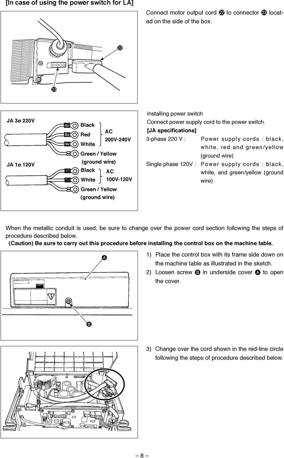 English Sc 921 Instruction Manual Pdf Wiring Diagram For 240 Volt 1 Phase Switch Power