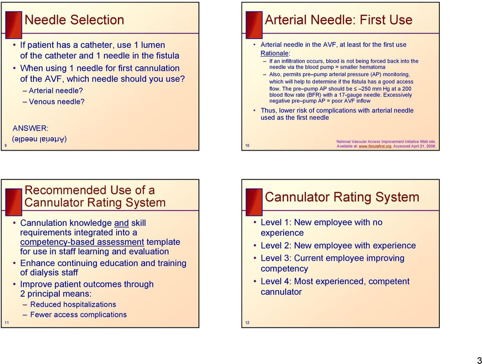 protocol for new avf cannulation pdf
