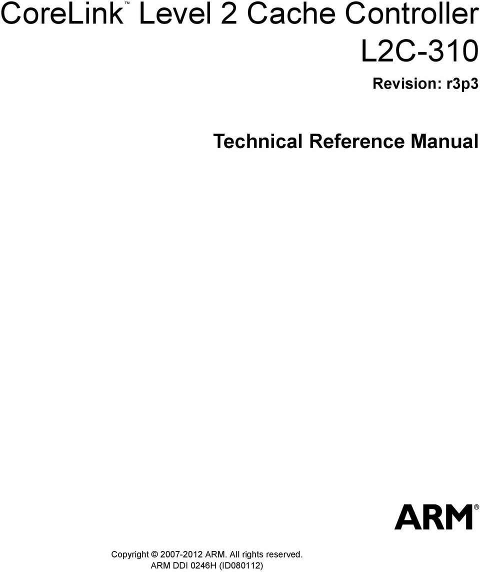 level 2 cache controller l2c 310 corelink technical reference rh docplayer net arm coresight trace memory controller technical reference manual arm coresight soc-400 technical reference manual