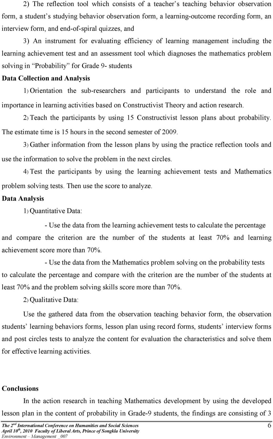 The development of mathematics learning activities based on