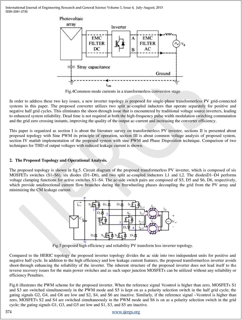 An efficient Grid tie Solar PV based Single Phase Transformer less