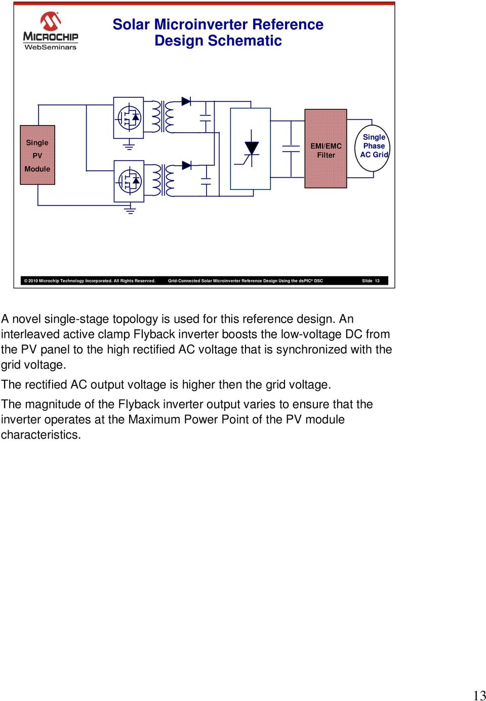 Grid Connected Solar Microinverter Reference Design Pdf 100w Inverter Circuit Schematic Wiring Diagram An Interleaved Active Clamp Flyback Boosts The Low Voltage Dc From Pv Panel