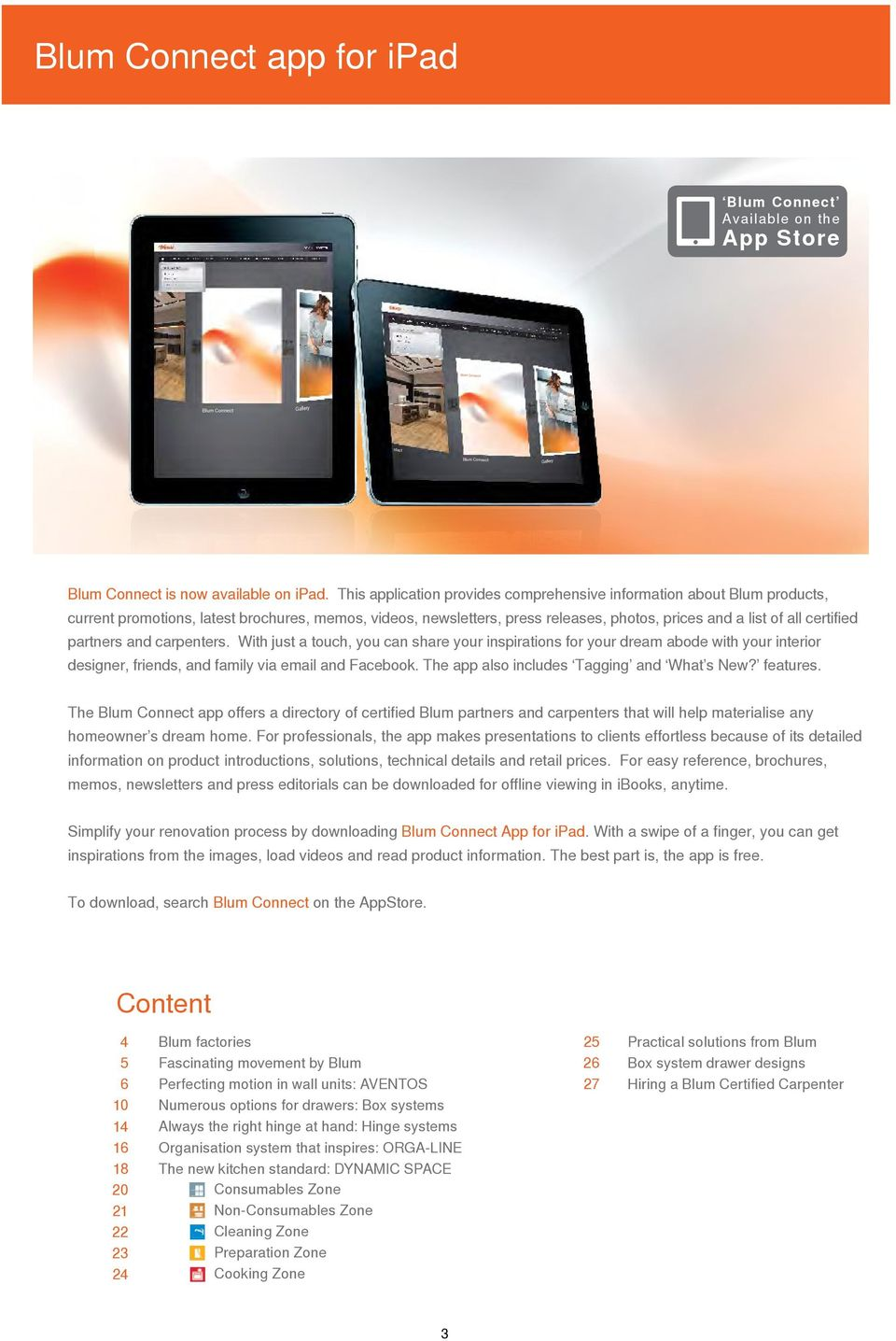 Functionality and design for your kitchen with Blum - PDF