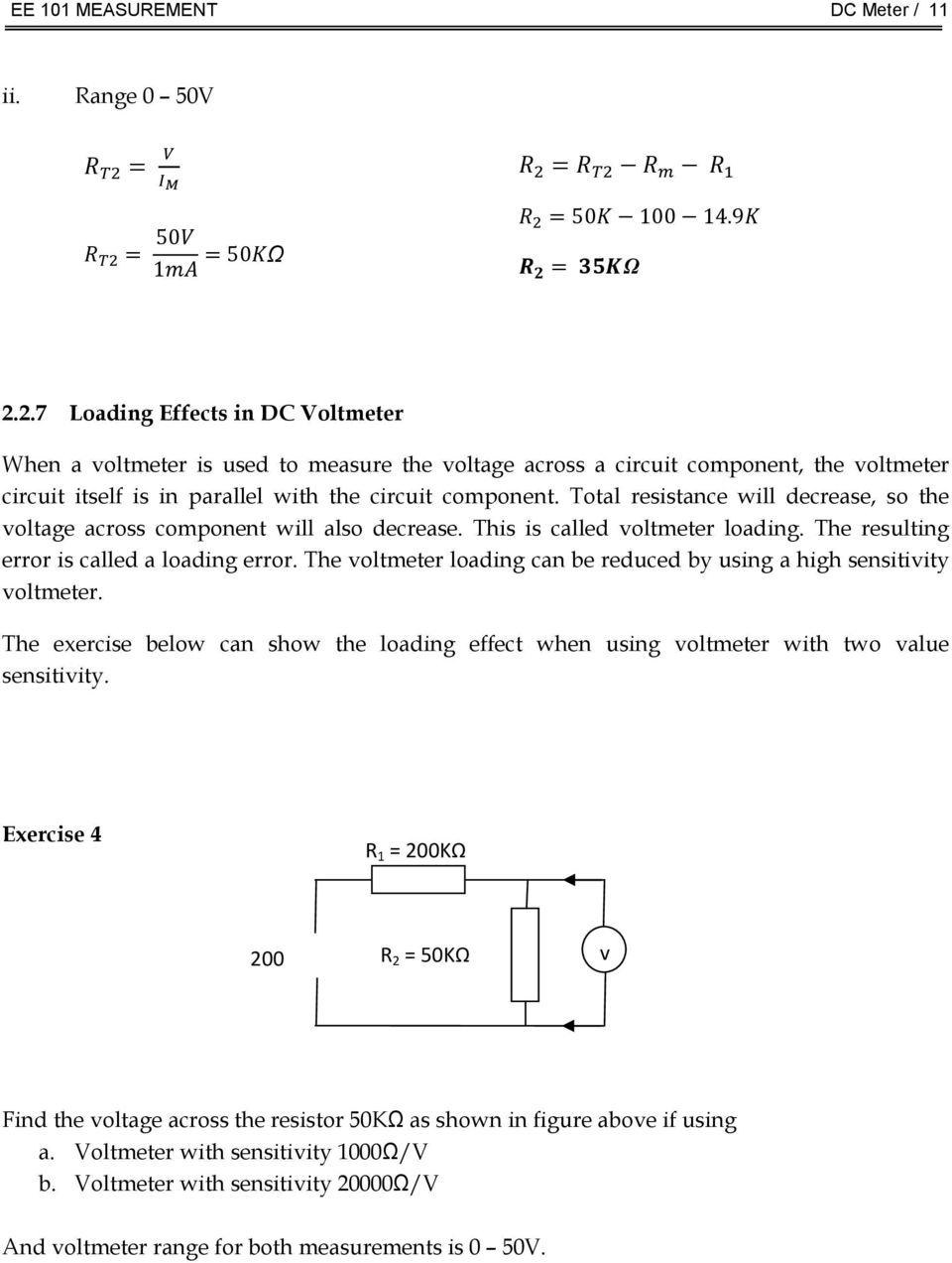 Chapter 2 Dc Meters Pdf Motor Circuit Protector Symbol Http Wwwallaboutcircuitscom Total Resistance Will Decrease So The Voltage Across Component Also This Is