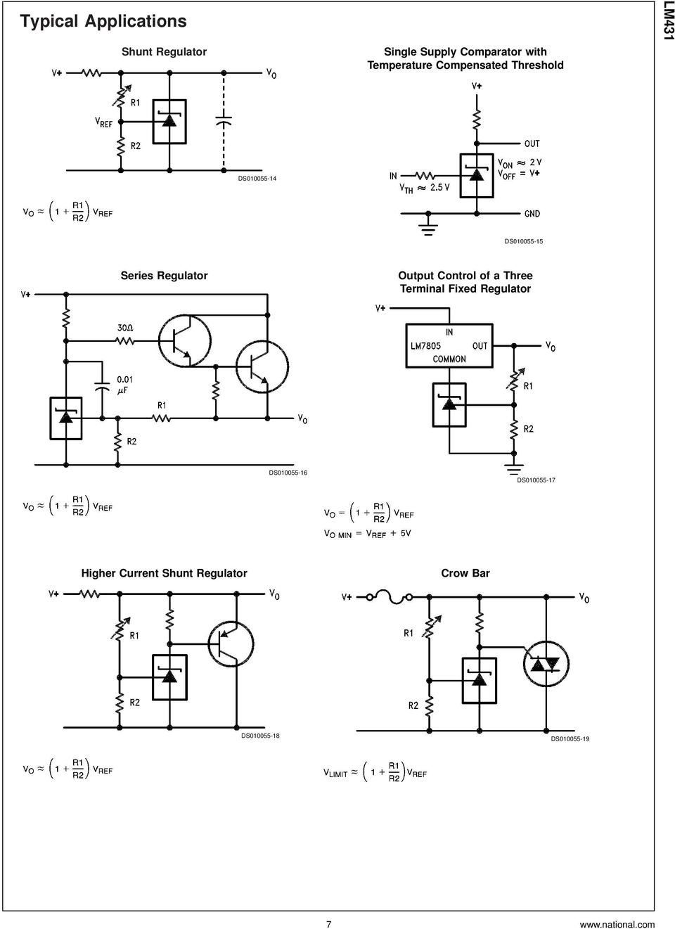 Lm431 Adjustable Precision Zener Shunt Regulator Pdf High Current Circuit Diagram Using Lm117 Output Control Of A Three Terminal Fixed Ds010055 16