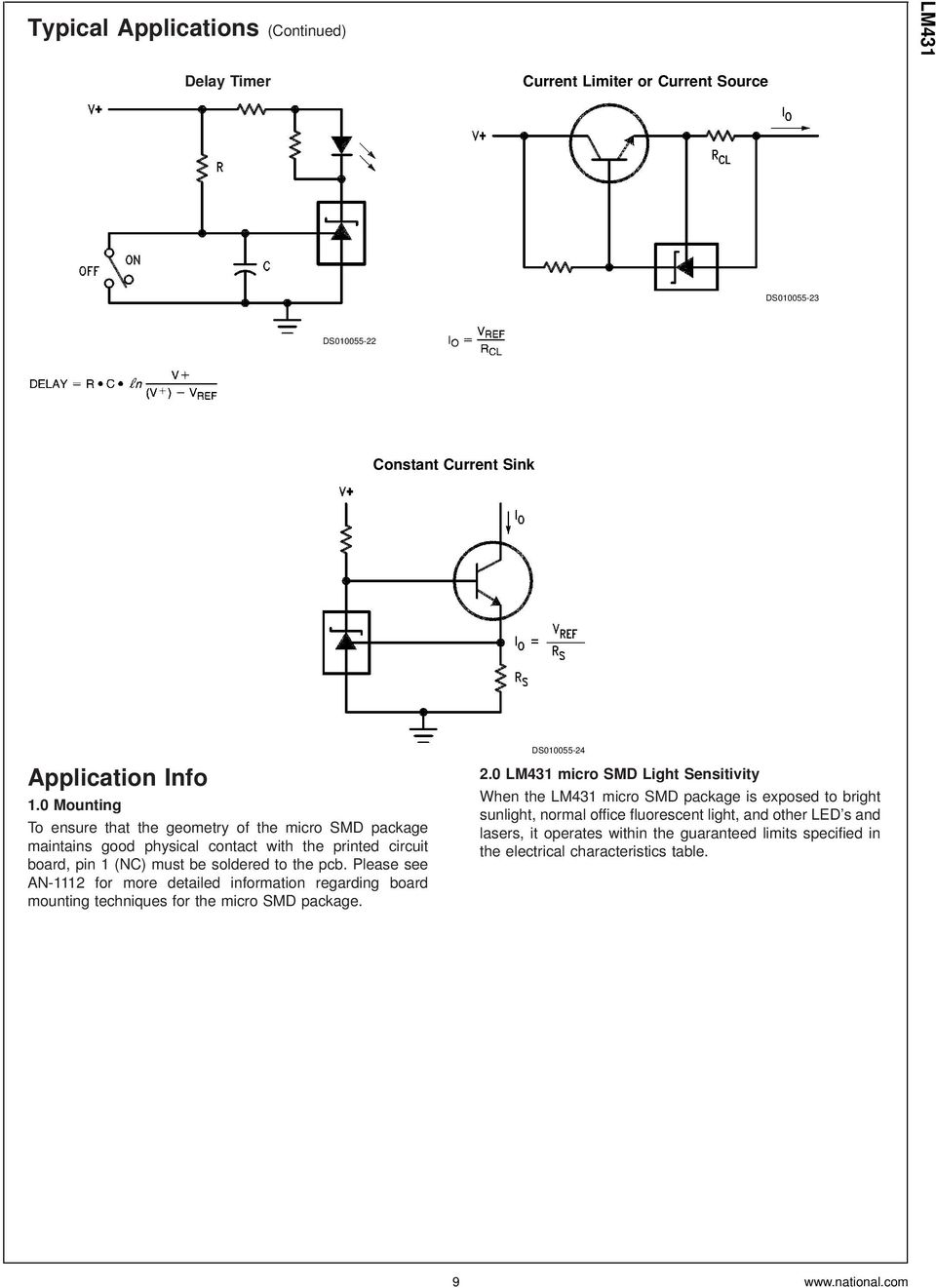 Lm431 Adjustable Precision Zener Shunt Regulator Pdf High Current Circuit Diagram Using Lm117 Please See An 1112 For More Detailed Information Regarding Board Mounting Techniques The Micro