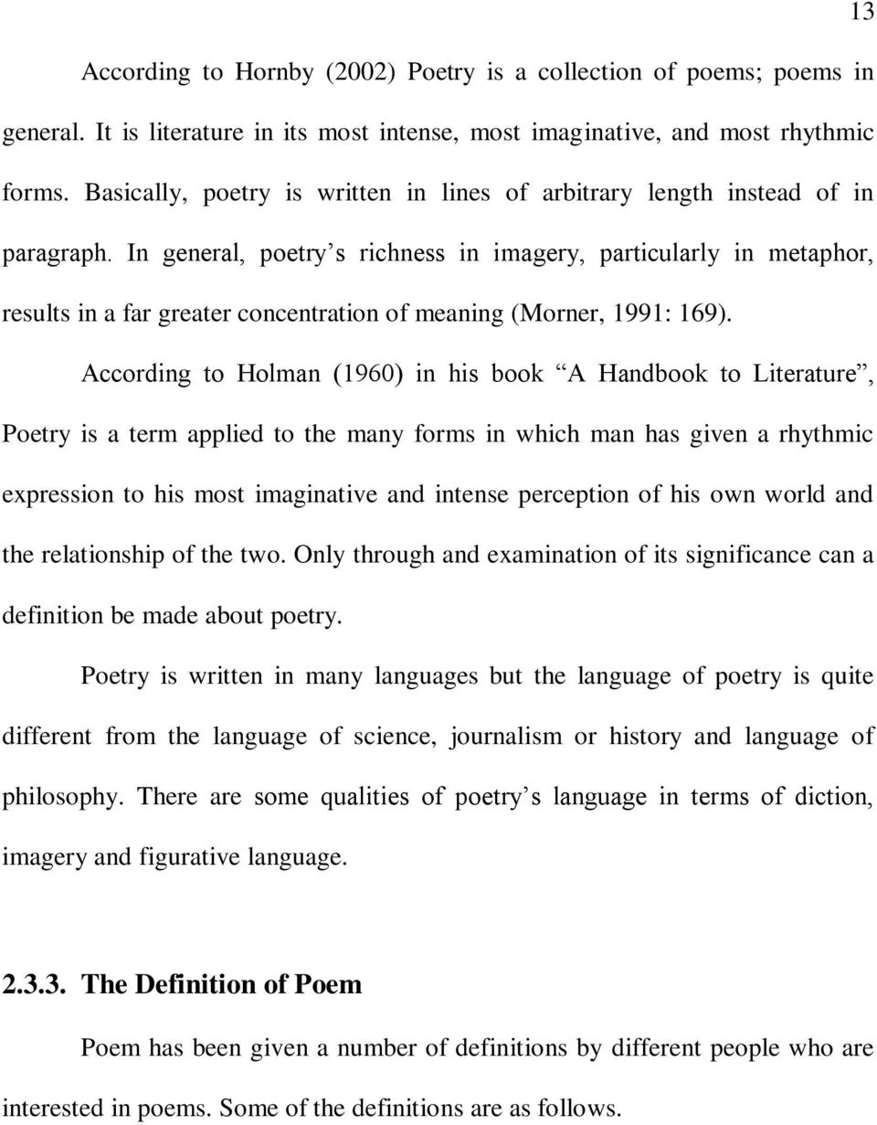 what does imagery mean in poetry
