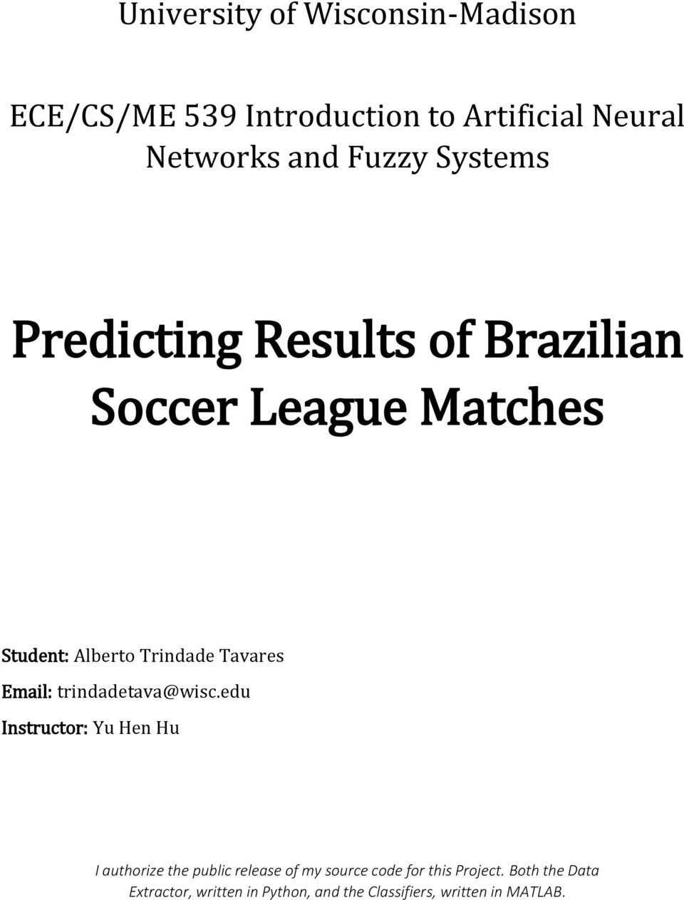Predicting Results of Brazilian Soccer League Matches - PDF