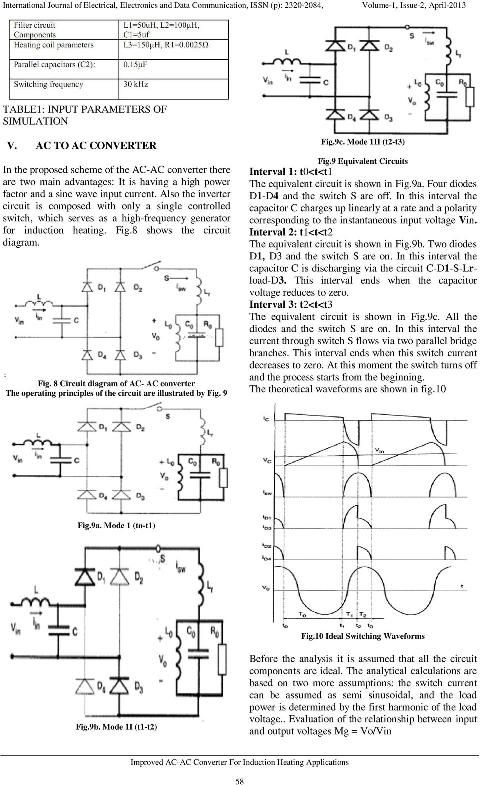 Improved Ac Converter For Induction Heating Applications Pdf Diagram Also The Inverter Circuit Is Composed With Only A Single Controlled Switch Which Serves As