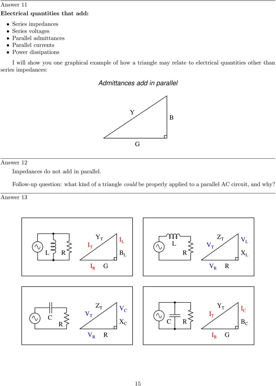 Trigonometry For Ac Circuits Pdf Circuit Dummies Impedances Admittances Add In Parallel Y B G Answer 12 Do Not