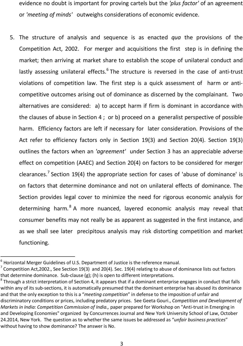 Economic Evidence In Competition Law Enforcement In India By Dr