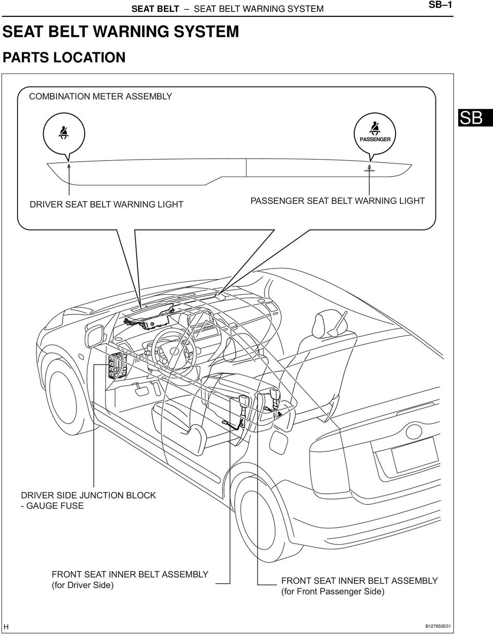 Toyota RAV4 Service Manual: Front seat inner belt assembly