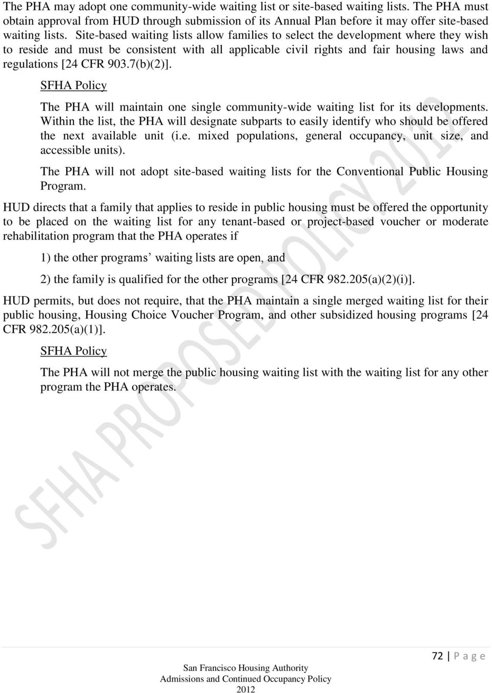 Chapter 4 APPLICATIONS, WAITING LIST AND TENANT SELECTION - PDF
