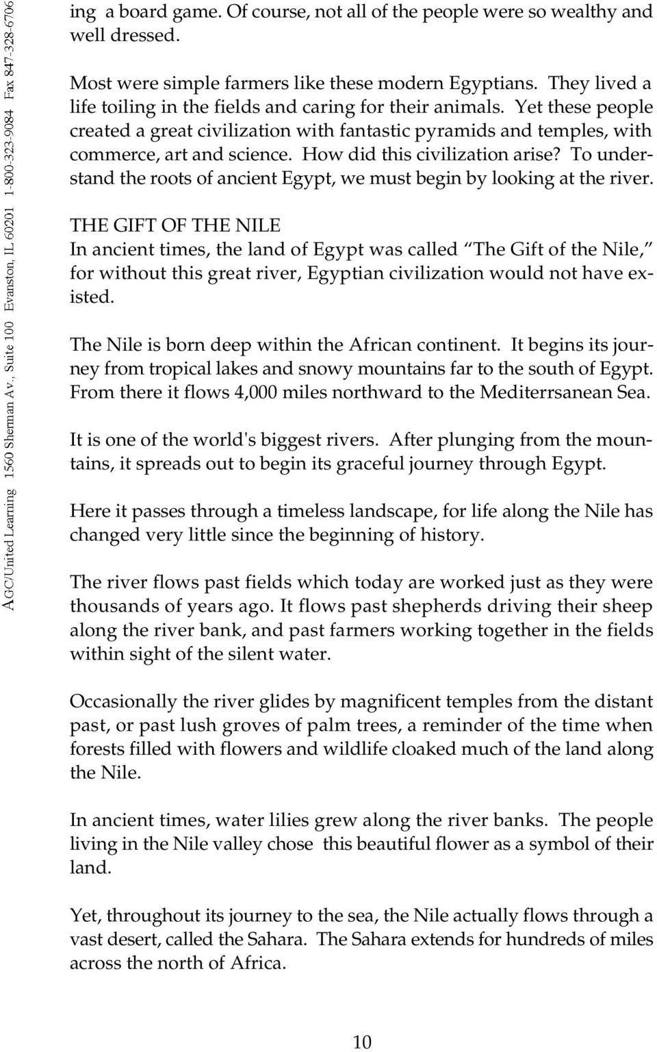 Ancient Egypt Gift Of The Nile Catalog Published Distributed