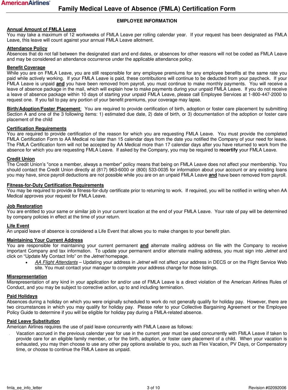 Family Medical Leave Of Absence Fmla Certification Form Pdf