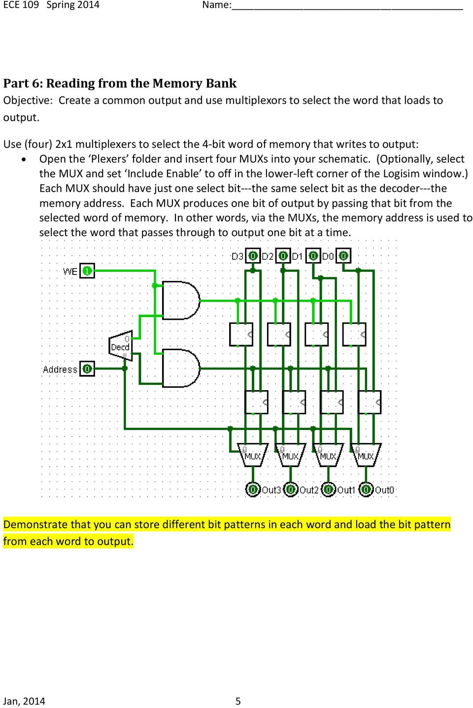 Problem Session 5 Overview Part 1 An S R Latch 2 A D Figure 8 4x1 Multiplexer With 2x4 Decoder Selector Block Diagram Optionally Select The Mux And Set Include Enable To Off In Lower