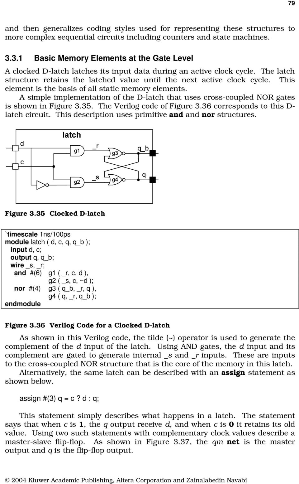 3 3 1 Basic Memory Elements at the Gate Level - PDF