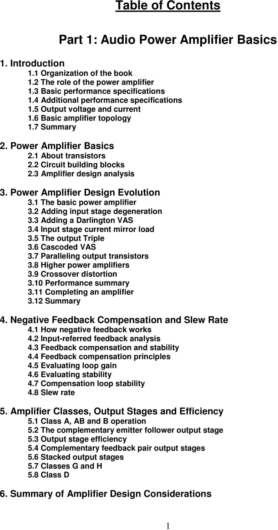 Table Of Contents Part 1 Audio Power Amplifier Basics Pdf Class D Amplifiers Fundamentals Operation And Recent Developments 3 Design Analysis Evolution 31 The Basic 32