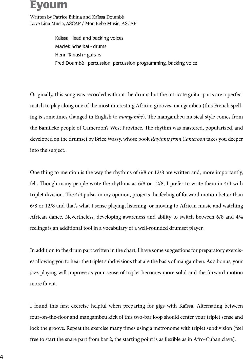 AFROPOP PLAY-ALONG FOR DRUMMERS - PDF