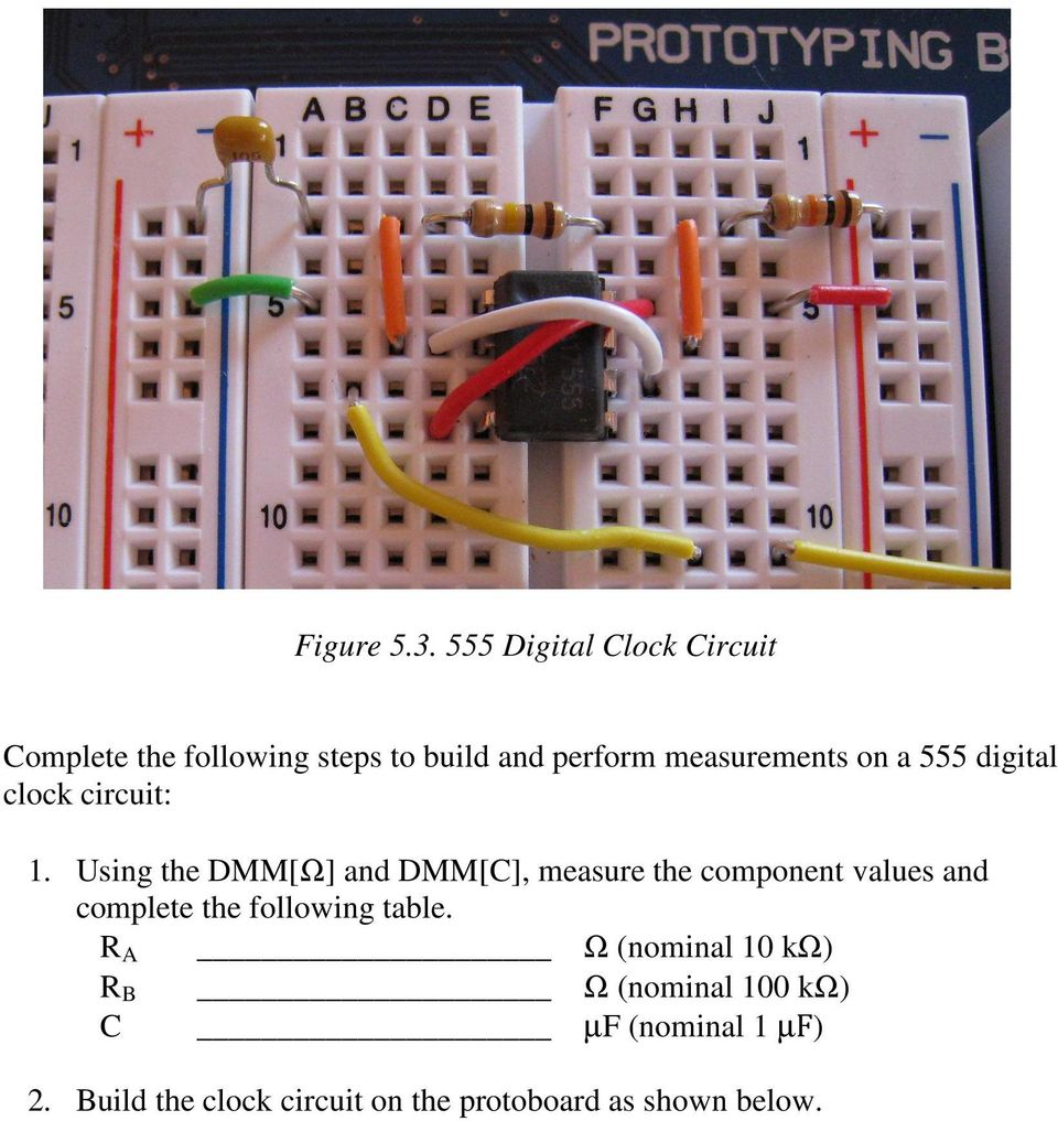 Lab 5 Digital I O Figure 50 Four Bit Counter Circuit On The 555 Bistable Electronics In Meccano A Clock 1