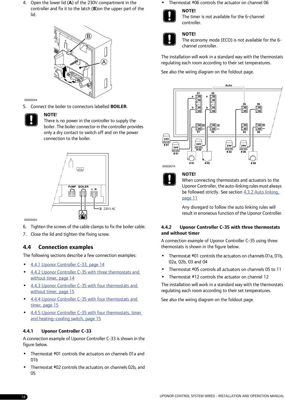 Indoor Climate Uponor Control System Wired Installation And Wiring Diagram For Tado Thermostat The Will Work In A Standard Way With Thermostats Regulating Each Room According To