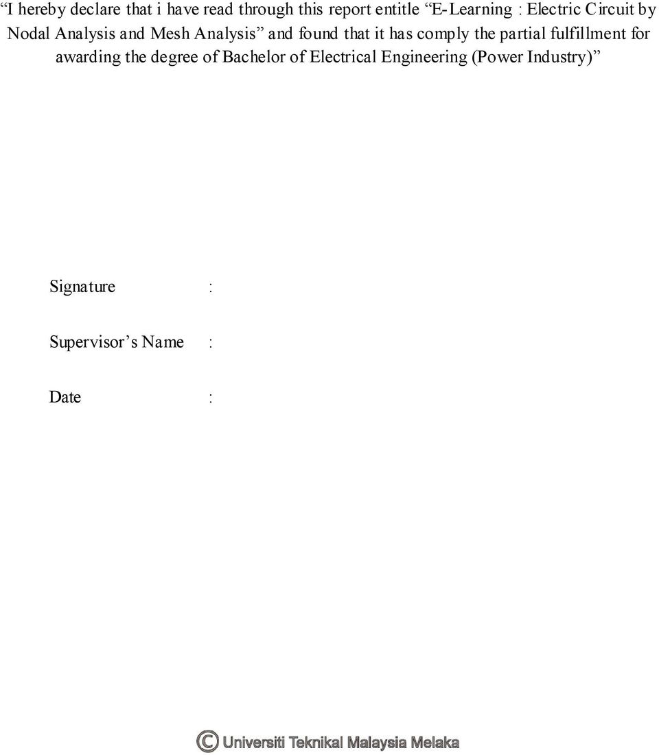 E Learning Electric Circuit By Nodal Analysis And Mesh Pdf For Circuits Electrical Engineering Learn Comply The Partial Fulfillment Awarding Degree Of Bachelor 3