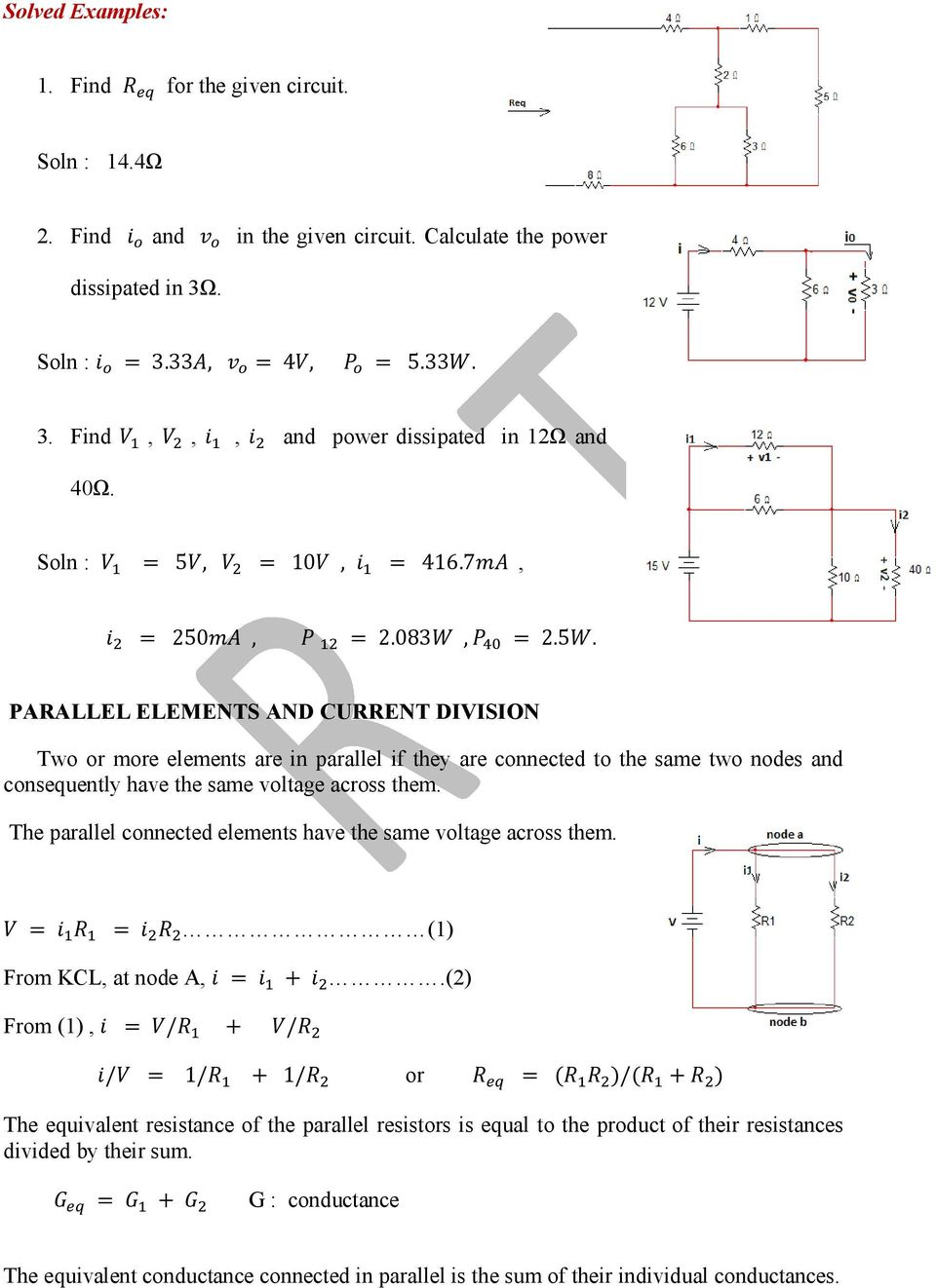 Basic Electrical Engineering Pdf Square Circuit Equivalent Resistance Of Resistor The Parallel Connected Elements Have Same Voltage Across Them 1