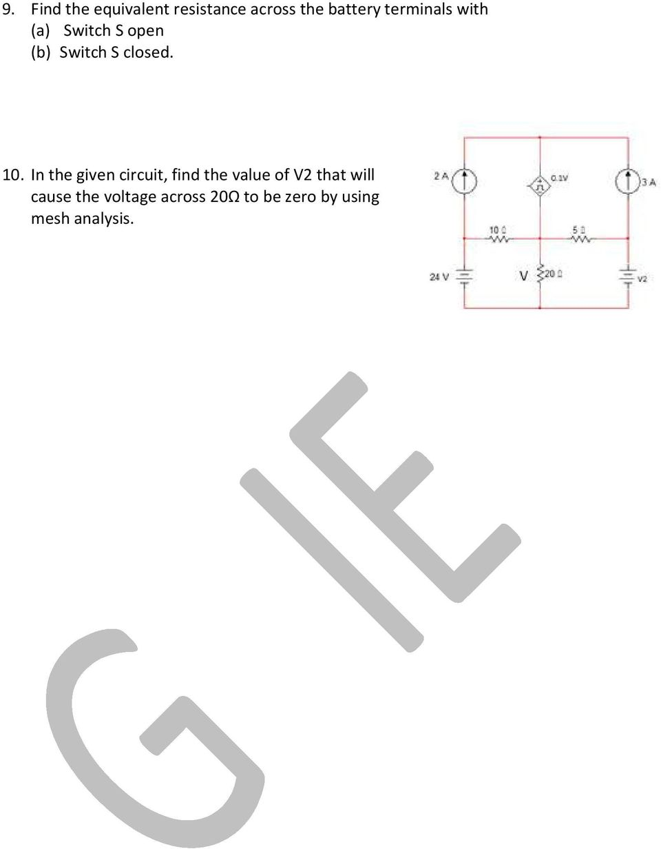 Basic Electrical Engineering Pdf Of The Op Circuit Is On Impedance Rc Series Diagram In Given Find Value V2 That Will