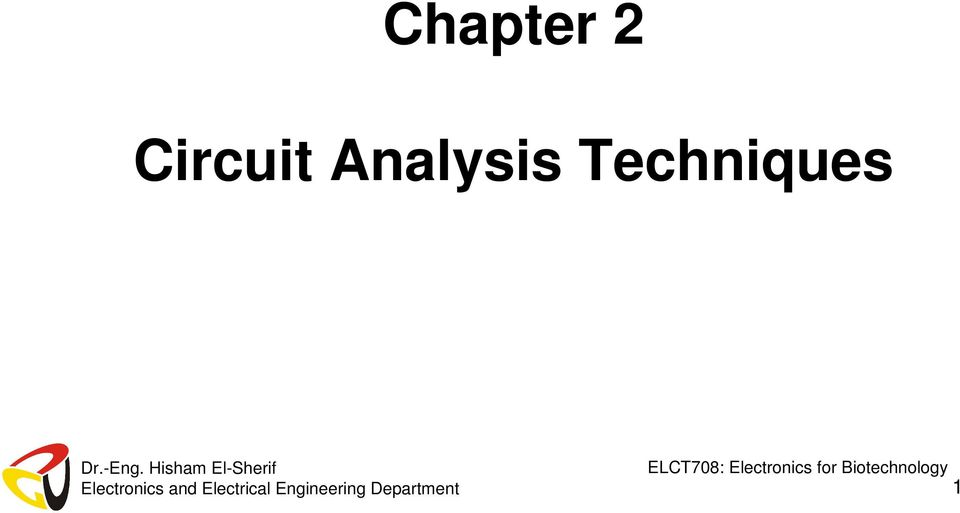 Chapter 2 Circuit Analysis Techniques PDF