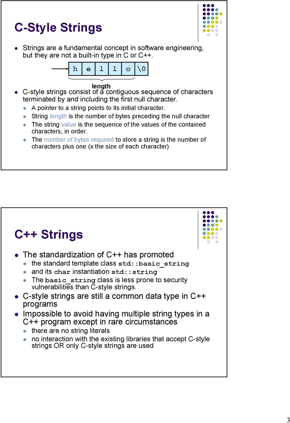 Secure Coding in C and C++ String Vulnerabilities  Acknowledgement