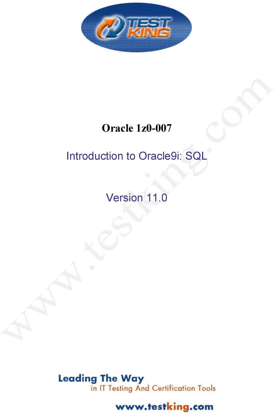 Pdf sql to 1 introduction vol oracle9i