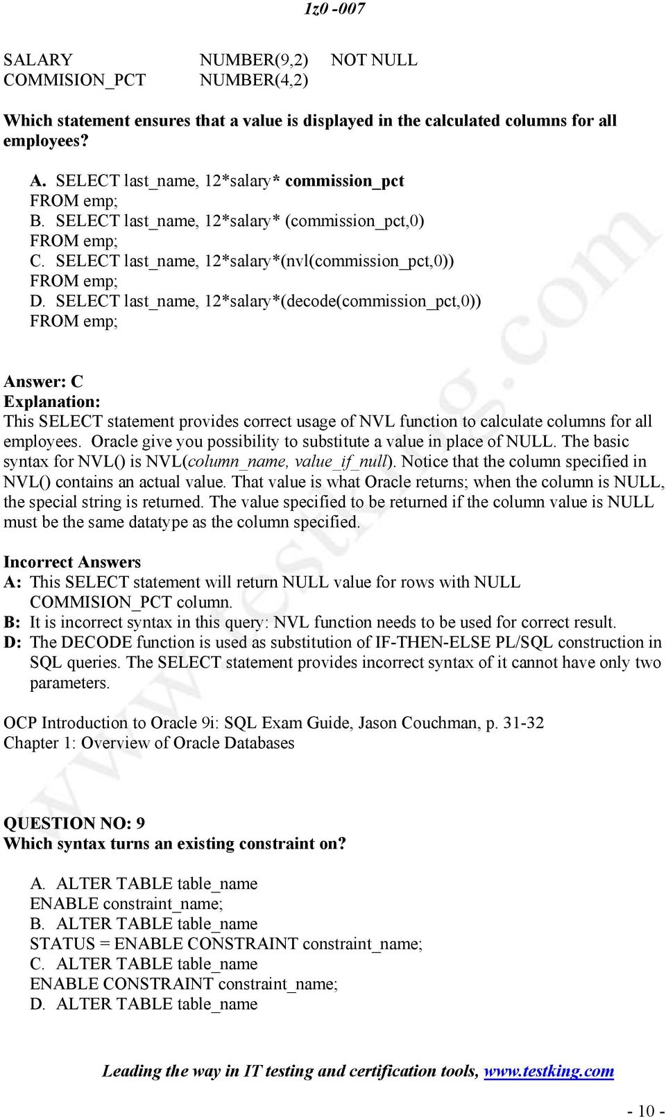 Oracle9i Sql Reference Pdf