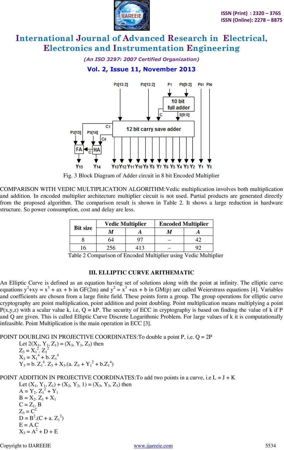 Ecc Encryption System Using Encoded Multiplier And Vedic Mathematics Bit Bcd Adder Public Circuit Online Simulator It Shows A Large Reduction In Hardware Structure So Power Consumption Cost Delay