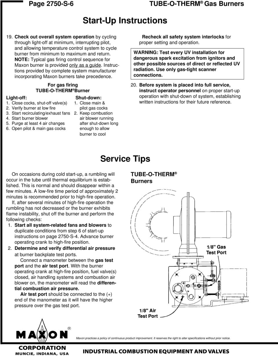 Installation Instructions Pdf Maxon Panel Heater Wiring Diagram Note Typical Gas Firing Control Sequence For Burner Is Provided Only As A Guide