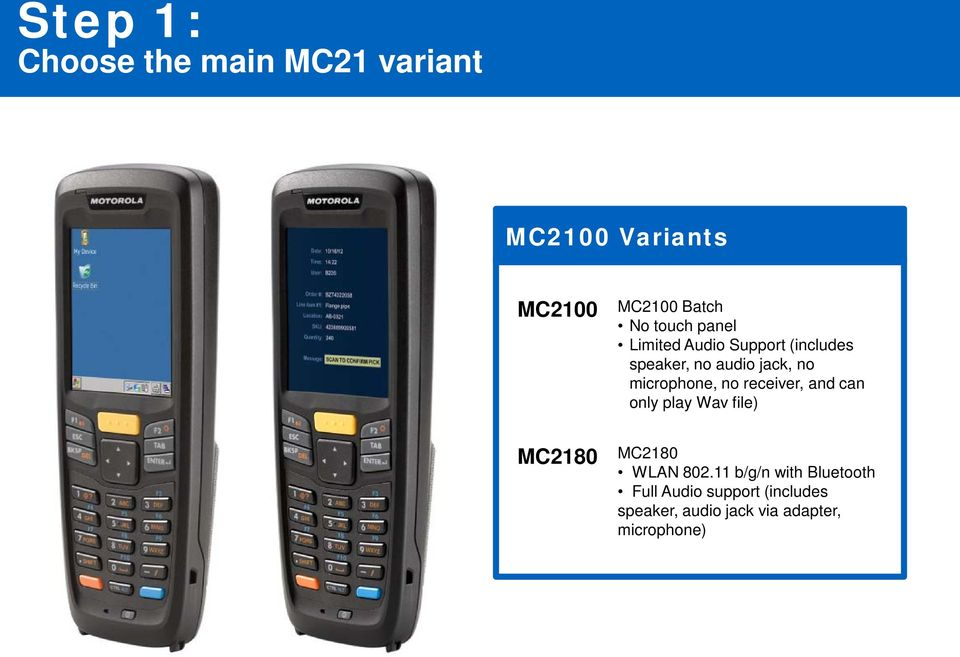 MC2100  Series  EMC Configuration and Accessories Guide