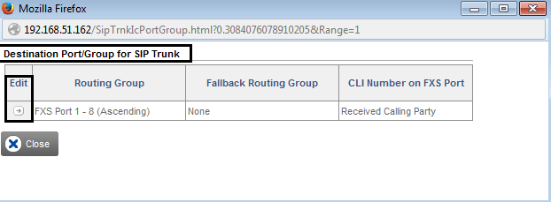 Incoming Call Configuration in SETU VFXTH To route incoming calls on the SIP trunk to the respective FXS port, Under Basic Settings on the left navigation bar, click the SIP Trunk link.