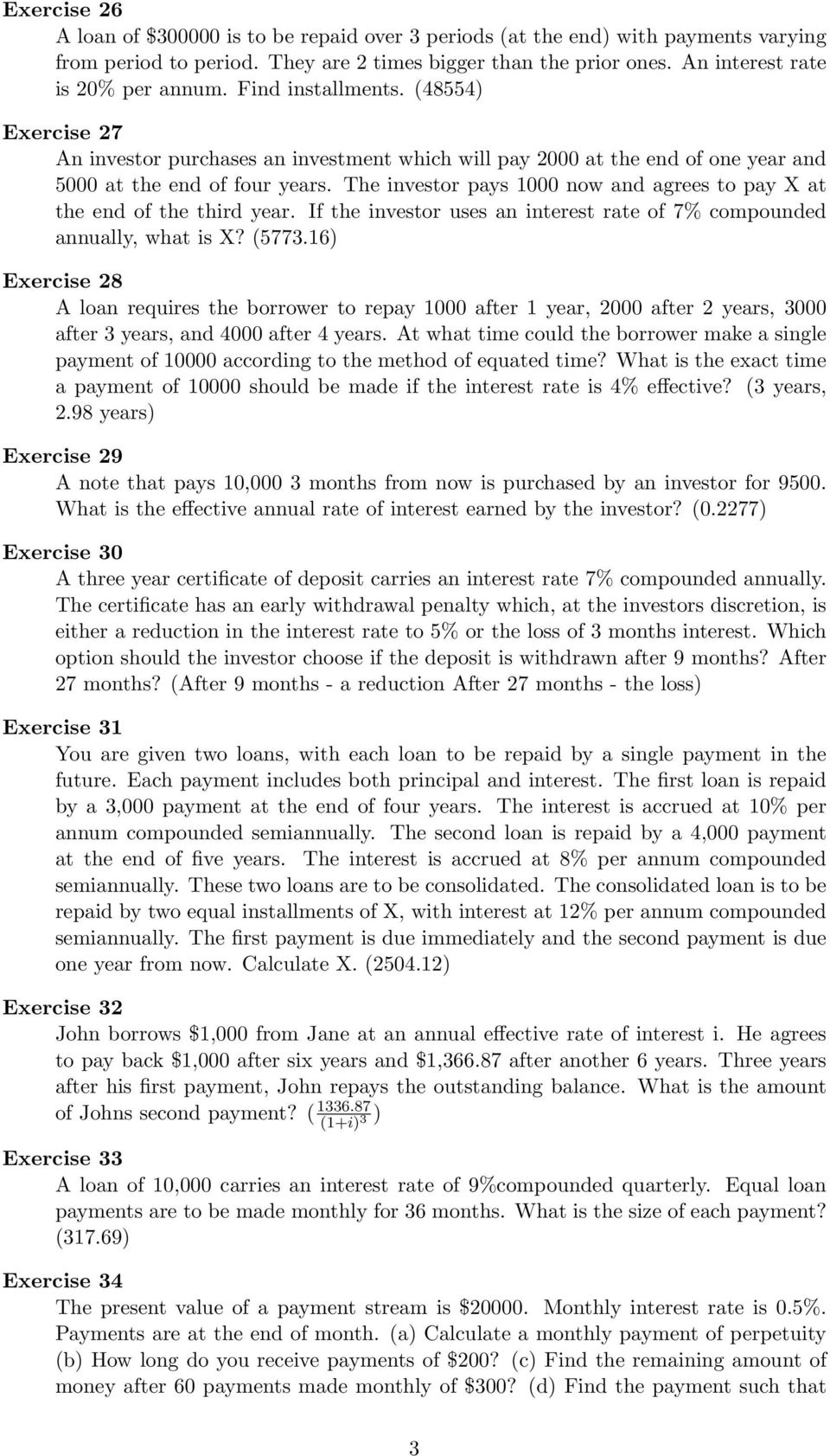 Exercise 6 Find The Annual Interest Rate If The Amount After 6 Years