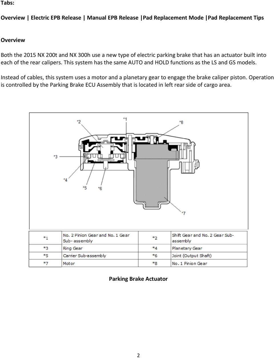 Toyota Highlander Service Manual: Parking brake control pedal ASSY