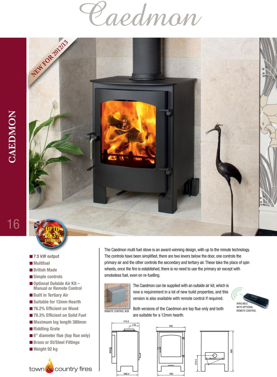 Efficient Stoves That Won T Cost The Earth Pdf Rocket Stove Diagram Oven Fireplace Earthen Pint Technology Controls Have Been Simplified There Are Two Levers Below Door