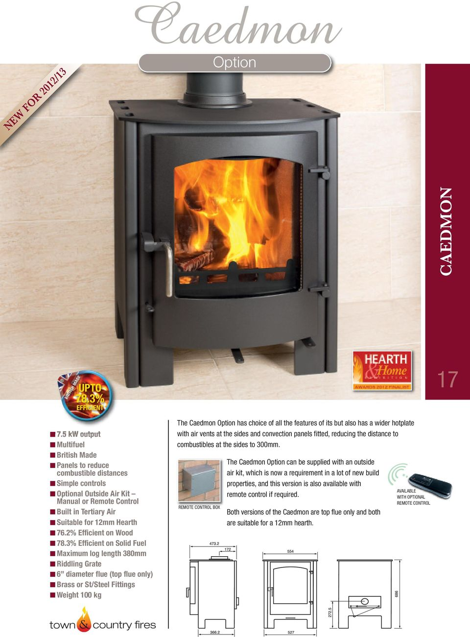 Efficient Stoves That Won T Cost The Earth Pdf Rocket Stove Diagram Oven Fireplace Earthen Pint 3 On Solid Fuel Maximum Log Length 380mm Riddling Grate 6 Diameter Flue