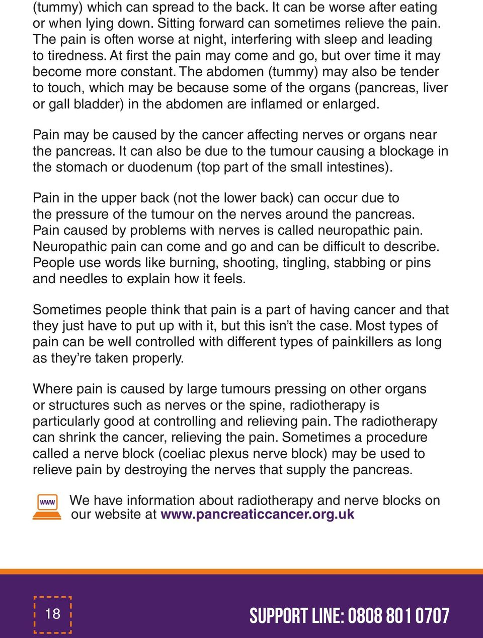 Caring for someone with pancreatic cancer Information for