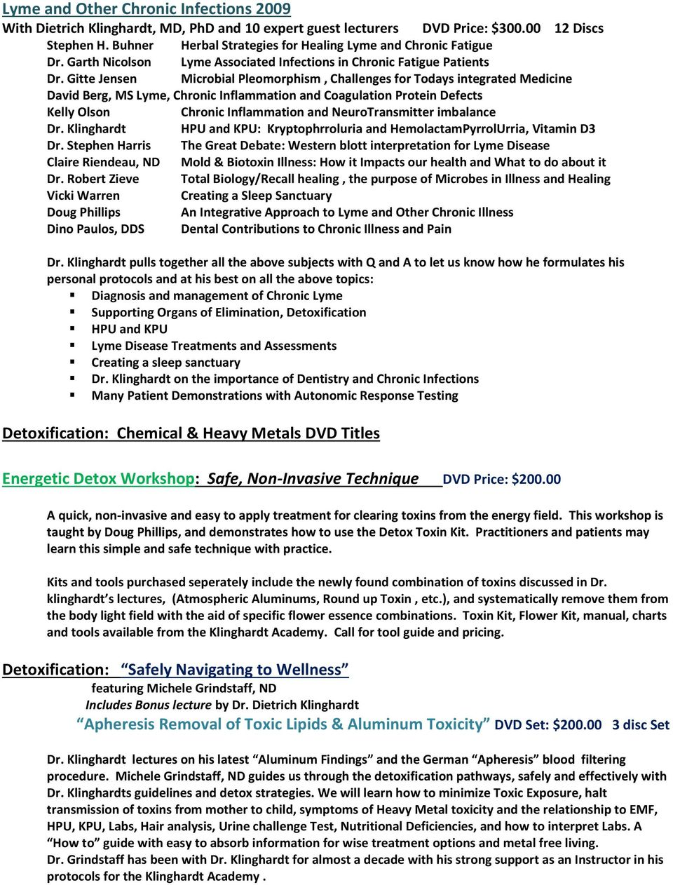 DVD Catalog of Recommended Trainings - PDF