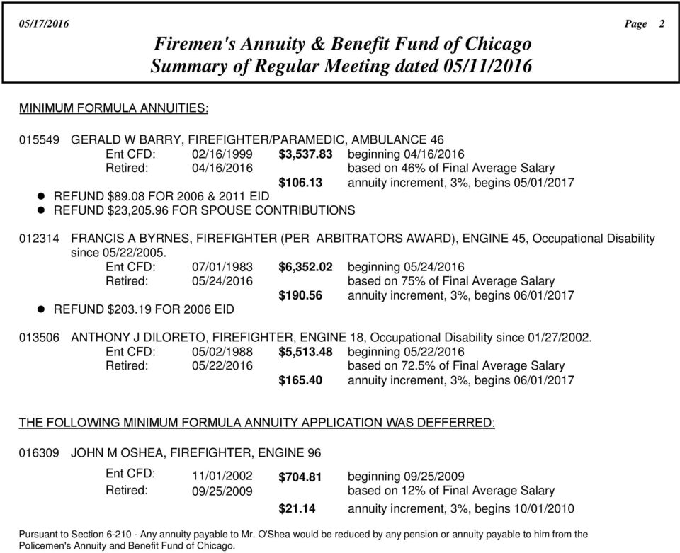 05/17/2016 Page 1 Firemen's Annuity & Benefit Fund of